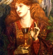 AA Grail- Dante Gabriel Rossetti - The Damsel of the Grail