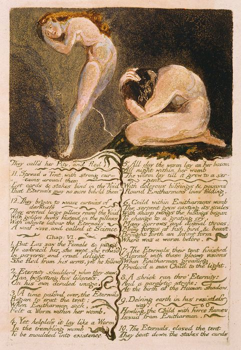 A page from Blake's Book of Urizen
